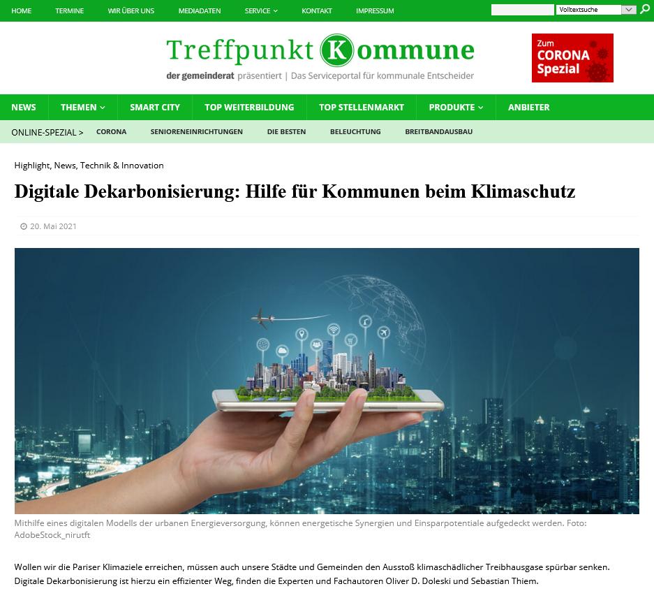 Digitale Dekarbonisierung: Hilfe für Kommunen beim Klimaschutz